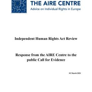 The AIRE Centre publishes its response to the Independent Human Rights Act Review
