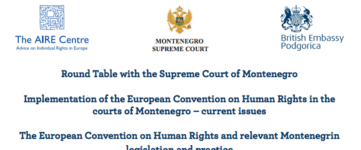 Conference with the Supreme Court of Montenegro